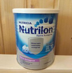 Mixture of nutrilon peptides allergy
