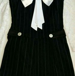 Uniformă școlară. Sundress + 2 bluze r128