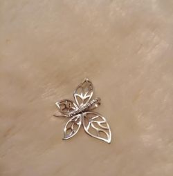 Pendant. Butterfly. Dragonfly. Moth. Silver.
