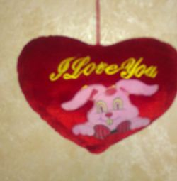 Heart plush.