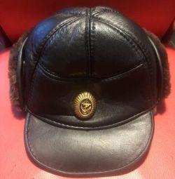 Leather hat on a tsigeyke