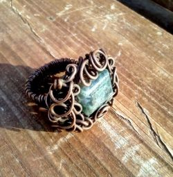 Винтажное кольцо с натуральной яшмой