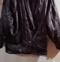 Leather women's jacket.