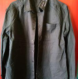 Рубашка черная с надписью