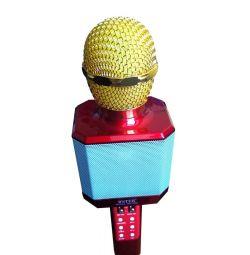 Караоке микрофон Wster WS-1828 красный металлик