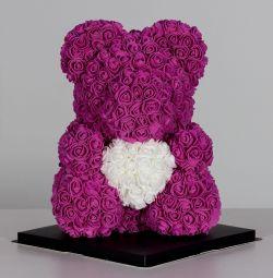 Мишка🐼из 3D роз в коробке🎁