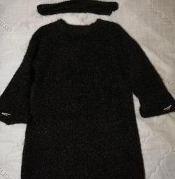 Тeплое платье туника