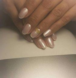 Manicure, gel polish, nail