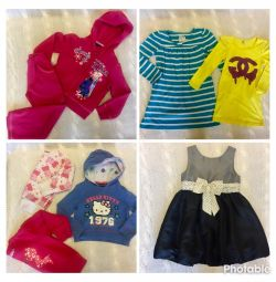 Clothes for a girl 4 years, Disney, Gap, HM