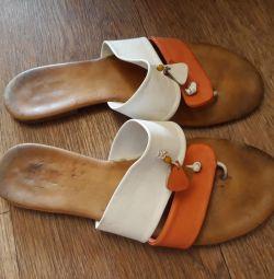 Slates, flip flops leather Benta 38р