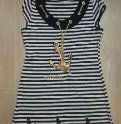 Beach striped dress