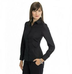 Shirt black classic 42-44r