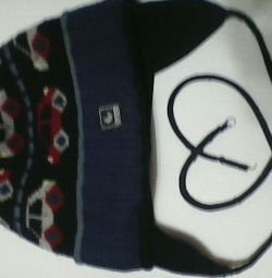 Шапка+шарф. Зима.