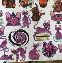 Stickers with a cat