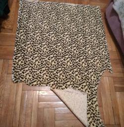 Leopard Faux Fur Fabric Cut