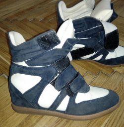 Ανδρικά πάνινα παπούτσια σε σφήνα