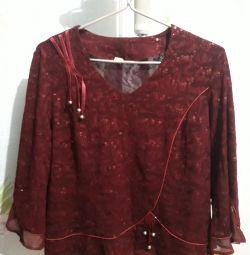 Κοστούμι (μπλούζα + φούστα) + μπλούζα