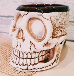 Mug for beer Skull