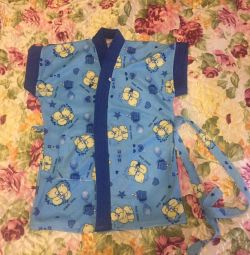 Children's terry dressing gown