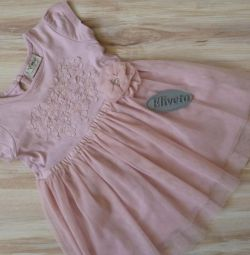 Платье хлопок 68-74 см. в отличном состоянии