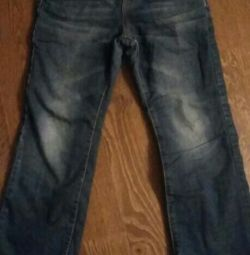 jeans on fleece (height 128)