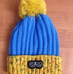 New winter hat for a boy. 3-5 years.