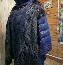 Down jacket + fur vest