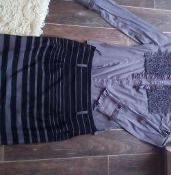 Μπλούζα και φούστα 46-48 μ