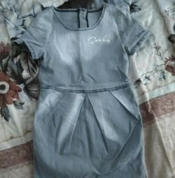 Denim dress for a girl