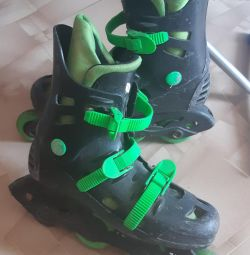 Rollers + knee pads