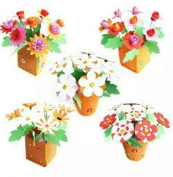 Пазл конструктор квіти розвиваючі іграшки