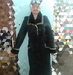 Natural sheepskin coat made in Turkey