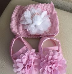 Pantofi pentru copii cu pălărie