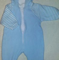 Warm overall with hood 62-68 r.
