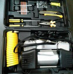 Car compressor in the case