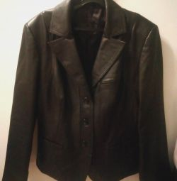 Leather jacket (spring-autumn) new