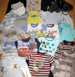 A large package of children's things for 3-4 years old boy