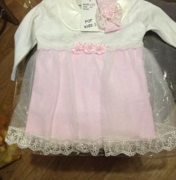 Новое платье с этикеткой(62-68р)