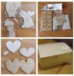 Valentine'nın tahta boşlukları, çekmeceler