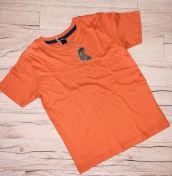 4-5, 6-7 yaş erkek çocuklar için yeni tişörtler