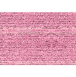 Фотофон «Розовые кирпичики», бумага 130 г