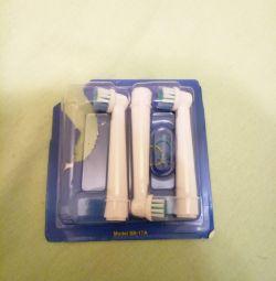 Насадки на електричну зубну щeтку Oral-B, Braun