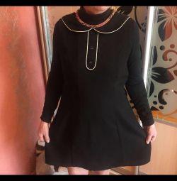 Платье/сарафан с воротничком новое