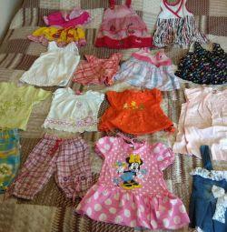 3 aydan 4 yaşına kadar bir kız için yaz eşyaları