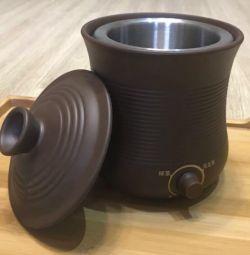 Tea leaves roasting kettle
