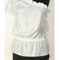 Блузка, колір срібний, нова