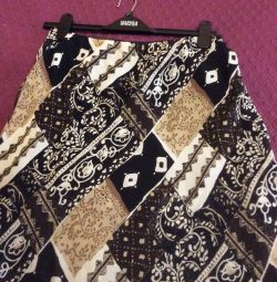 Оригинальная женская юбка, двойная 48раз+🎁