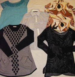 Блузки туники на 48