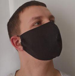 Reusable black medical mask