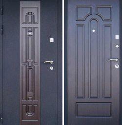 Входная металлическая дверь Рим венге-беленый дуб